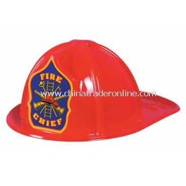 Plastic Fire Chief Hat