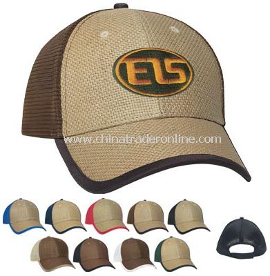369506995c2 wholesale Straw Front with Soft Mesh Back Cap - Embroidered-buy ...