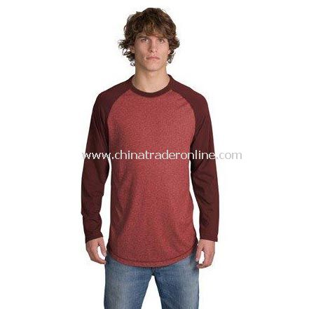 District Threads Heathered Jersey Long Sleeve Ragl