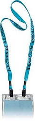 2 Bulldog Clip Badge Lanyard