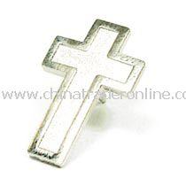 Cross Pin - Silver