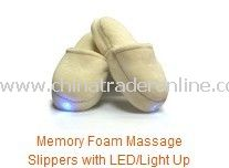 Memory Foam Massage Slippers with LED/Light Up