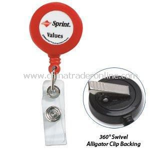 Retractable Badge Reel With Swivel Alligator