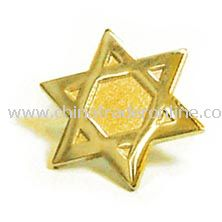 Star of David Lapel Pin - Gold
