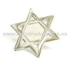 Star of David Lapel Pin - Silver