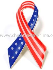 Stock USA Ribbon Pin