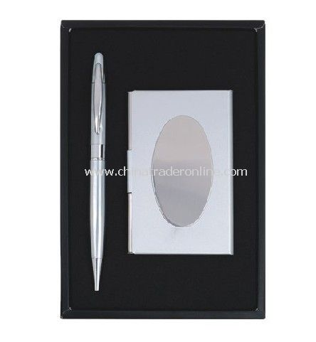 Gift Set Ball Pen and Name Card Holder