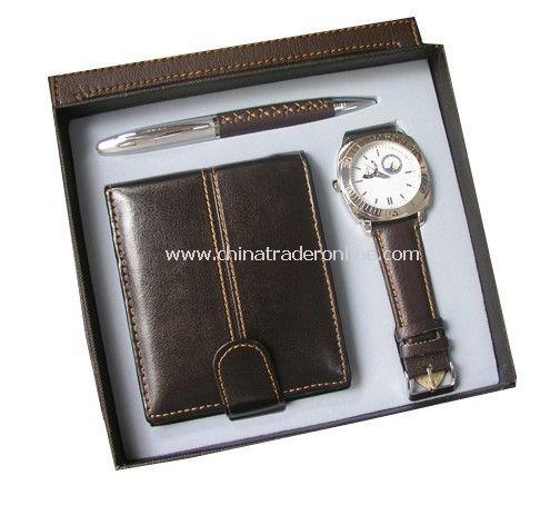 Gift Set Wallet, Watch,Pen