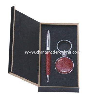 Gift Set With Ball Pen, Keychain