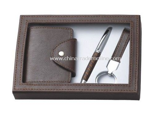Gift Set with Credit Card Holder, Ball Pen, Keychain Set