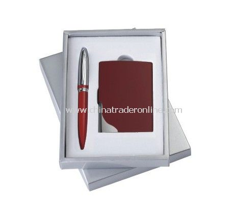 Gift Set With Name Card Holder, Ball Pen from China