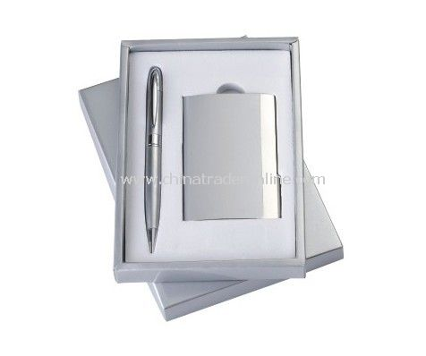 Gift Set With Name Card Holder, Ball Pen