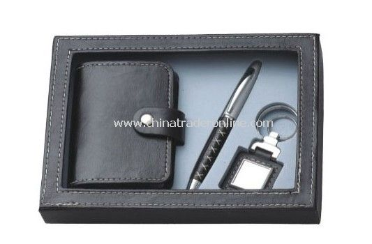 Gift Set with Name Card Holder, Keychain & Ball Pen from China