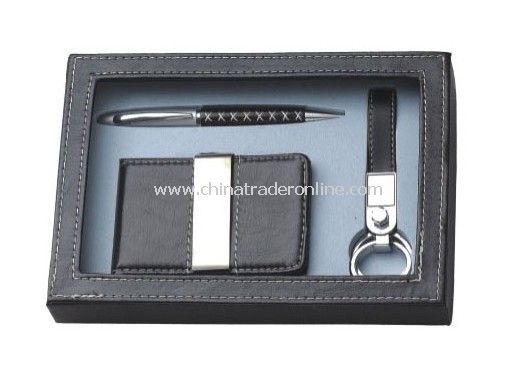 Gift Set with Name Card Holder, Keychain, Ball Pen Set from China