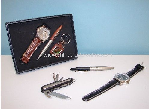 Gift Set with Watch, Ball Pen Keychian
