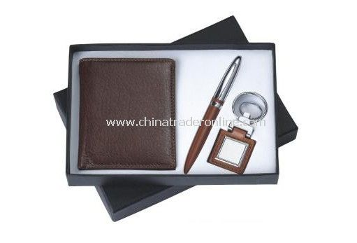 Mens Gift Set With Wallet Ball Pen, Keychain