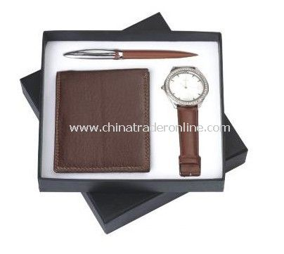 Mens Gift Set With Wallet Ball Pen, Watch