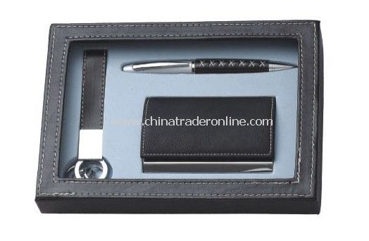 Name Card Holder, Ball Pen, Keychain Set from China