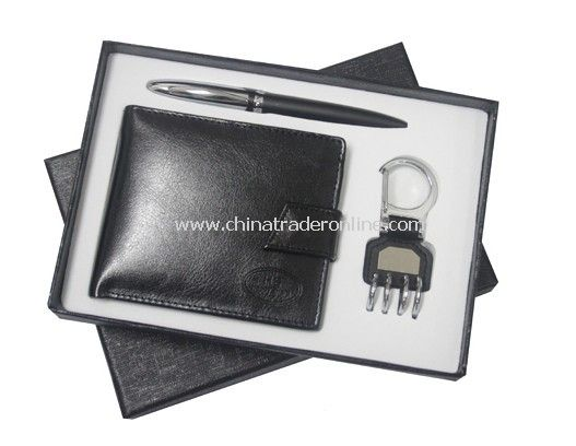Wallet, Ball Pen, Keychain Set