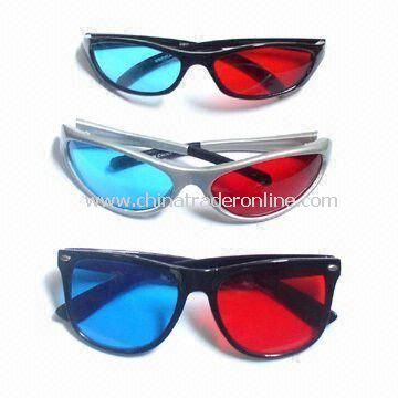 3D Plastic Glasses, Used for Game and Video Viewing