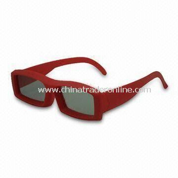 Circular 3D Glasses, with 99.7% Polarized Efficiency, Made of ABS Material