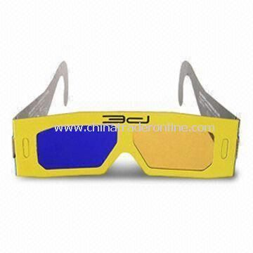 Paper glasses 3D Glasses, Suitable for Watching 3D Movies, Televisions, and Computer Games