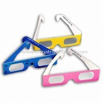 Stereoscopic 3D Glasses with Paper Frame, Suitable for 3D Movies, TV, and Games