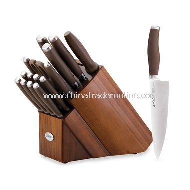 Advanced Bronze 17-Piece Knife Block Set