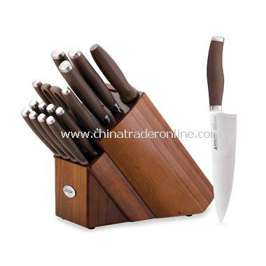 advanced bronze 17piece knife block set