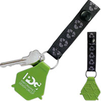 Recycle Symbol Key Tag
