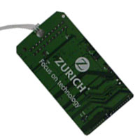 Recycled Circuit Board Luggage Tag