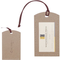 Recycled Luggage Tag with Die-Cut Window