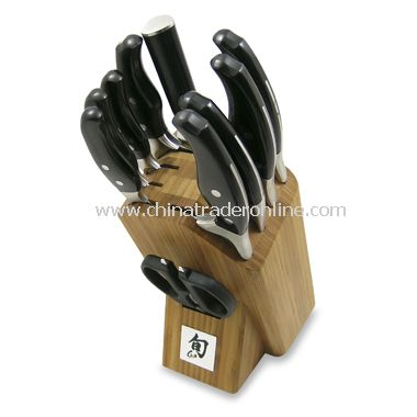 Shun Ken Onion 11-Piece Knife Block Set
