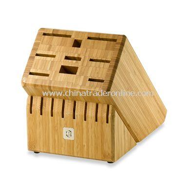 Victorinox Swiss Army 17-Slot Bamboo Block