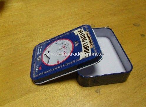 Poker Card Tin Box