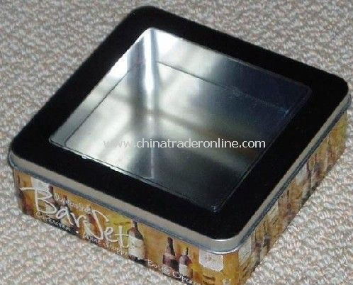 Window Tin Box With PVC from China