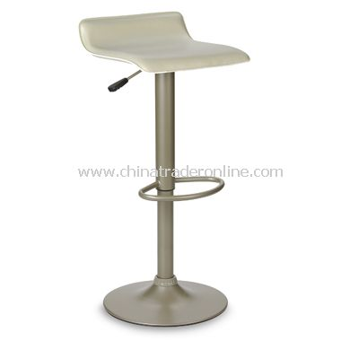 Airlift Adjustable Beige Faux Leather Stool