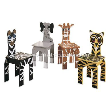 Animal Chairs (Set of 4)