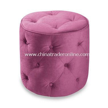Avenue Six Curves Round Ottoman - Pink