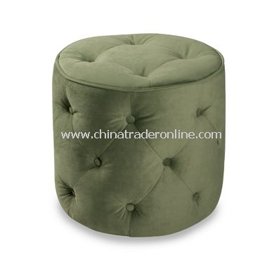 Avenue Six Curves Round Ottoman - Spring