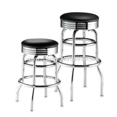 Chrome and Vinyl Stools