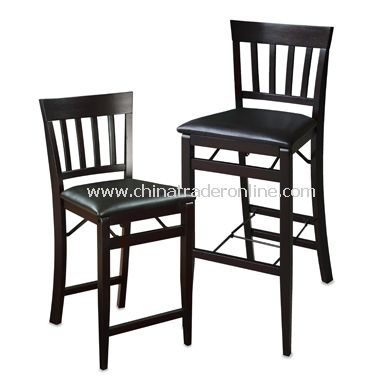 Folding Mission Style Stool - Espresso from China