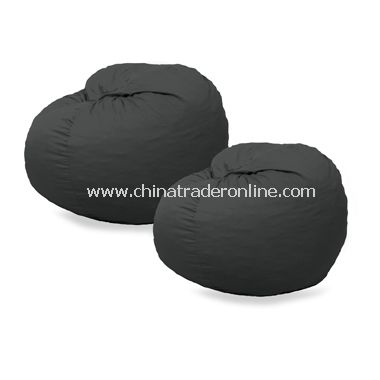 Fuf Black Microsuede Chair