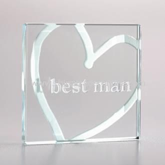 Miniature Glass Token Best Man