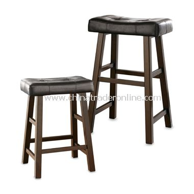 black leather saddle stool 3