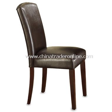 Parson Brown Faux Leather Chair