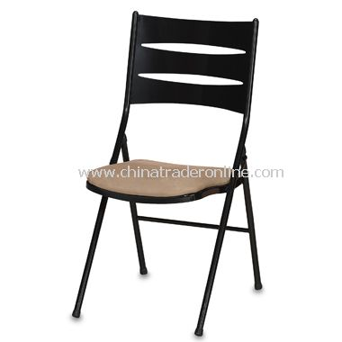 Three-Slat High-Back Folding Dining Chair