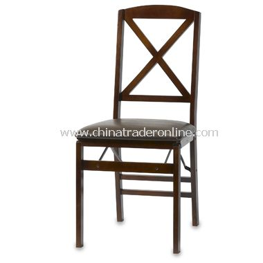 Walnut Folding X-Back Chair