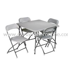 5-Piece Folding Table and Chairs Set