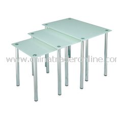 Glass Nesting Tables (Set of 3)